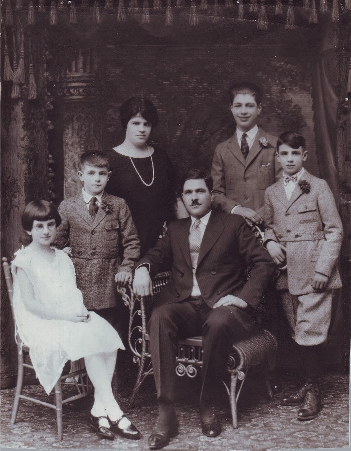 Foresta Family, r-l, Mario (my father), Joseph, Grandfather Anthony, Grandmother Lilian, Frank & Mariane